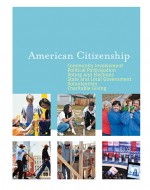 The America Citizenship bookcover shows examples of iconic aspects of life as an American citizen.