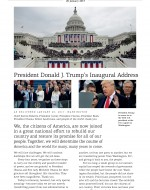 Booklet cover of the Inaugural Address of President Donald J. Trump on 20 January 2017
