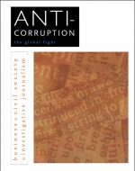 image of corruption news headlines and book title in English