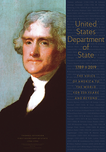 DoS 230th Anniversary—Thos. Jefferson—First Secretary of State