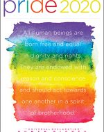 LGBTI poster in rainbow colors